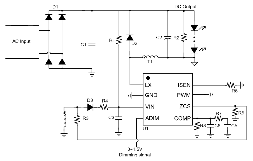 sy22656fac single stage buck pfc controller for led